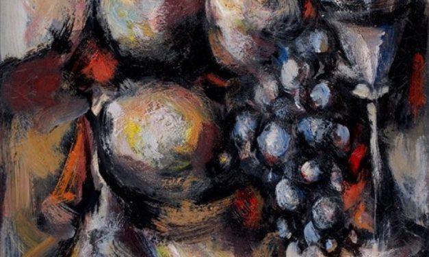 """""""Naturaleza muerta en la copa de vino"""" (1950), de Eduardo Pisano"""