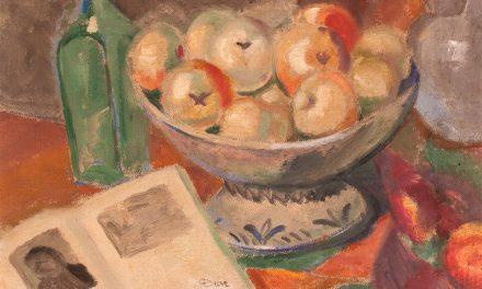 """Bodegón con manzanas y libro"" (1920), de Daniel Vázquez Díaz"