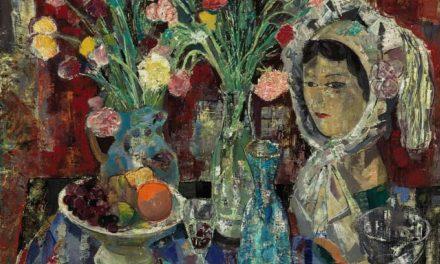 """""""Bodegón y mujer con gorro"""" (1963), de Emilio Grau Sala"""