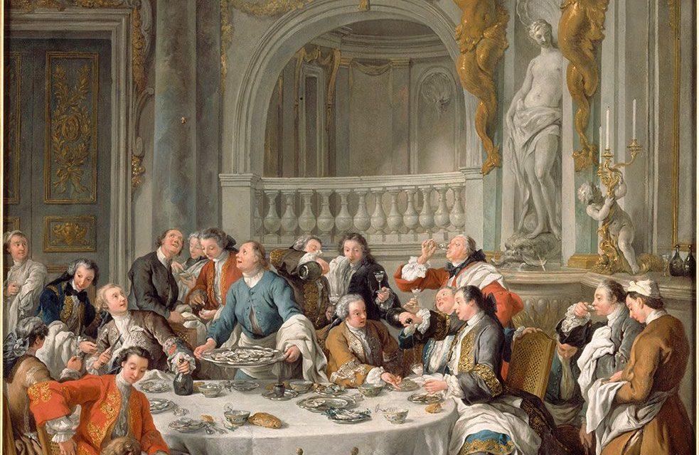 """""""Dominio de Chantilly. El almuerzo de ostras"""" (1735), de Jean-François de Troy"""