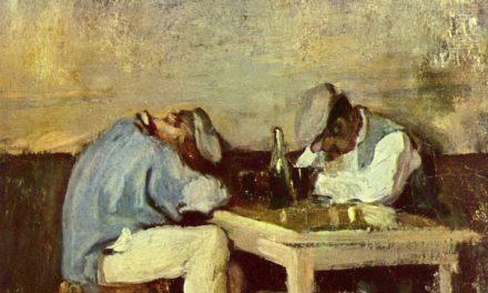 """Dos borrachos"" (segunda parte del siglo XIX), de Nicolae Grigorescu"