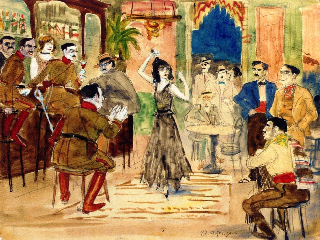 Escena de baile en un bar (1925), de Rudolf Schlichter