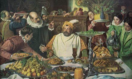 """""""Festín de Sancho Panza en la Insula Barataria"""" (1891), de José Moreno Carbonero"""