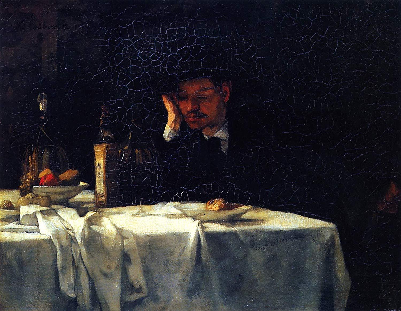 """""""Con vino de Roma"""" (1872), de Wilhelm Trübner"""