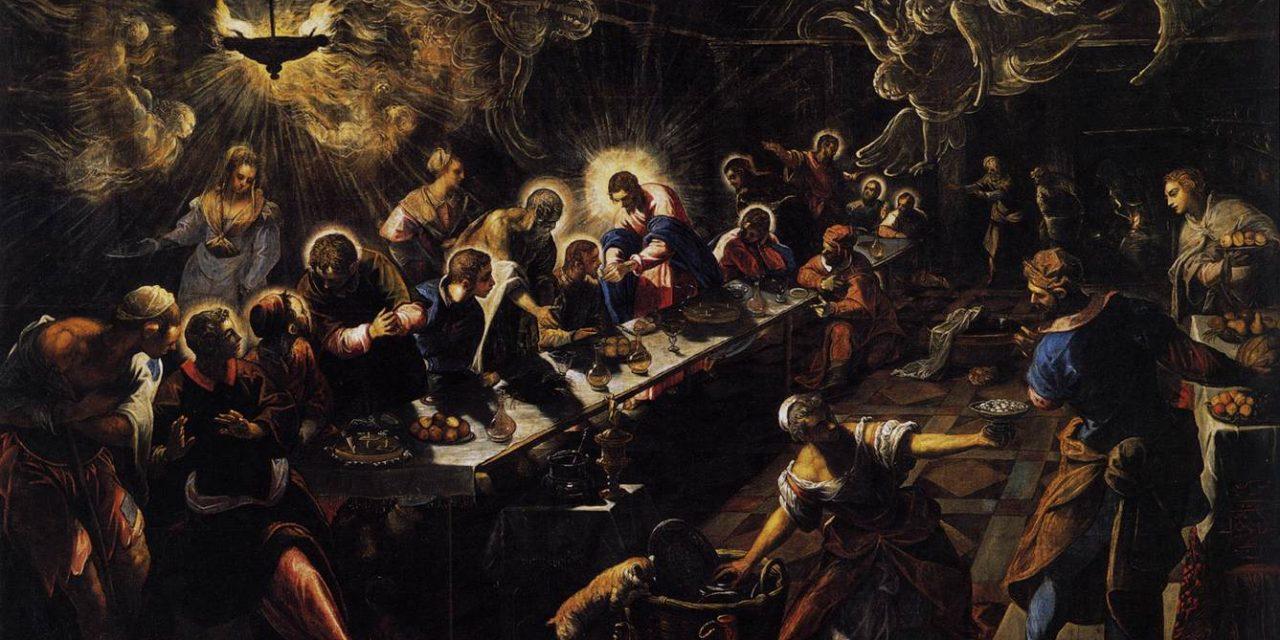 """""""La Última Cena"""" (1594), de Tintoretto"""
