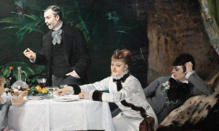 """""""Almuerzo en el invernadero"""" (1877), de Louise Abbéma"""