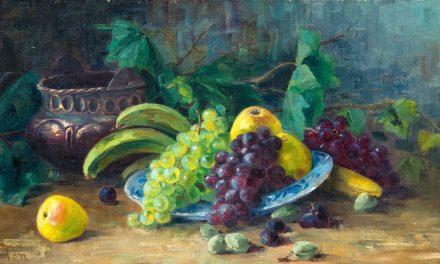 """""""Bodegón con frutas"""" (1896), de Ada Thilén"""