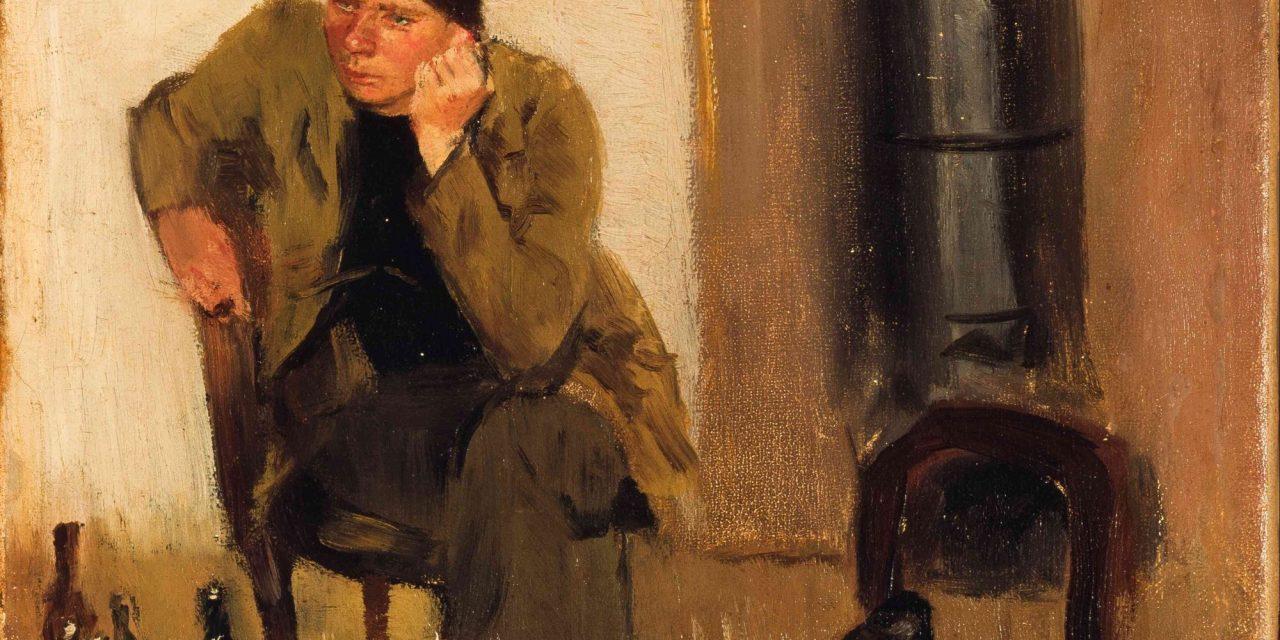 """Charles Lundh en conversación con Christian Krohg"" (1883), de Christian Krohg"