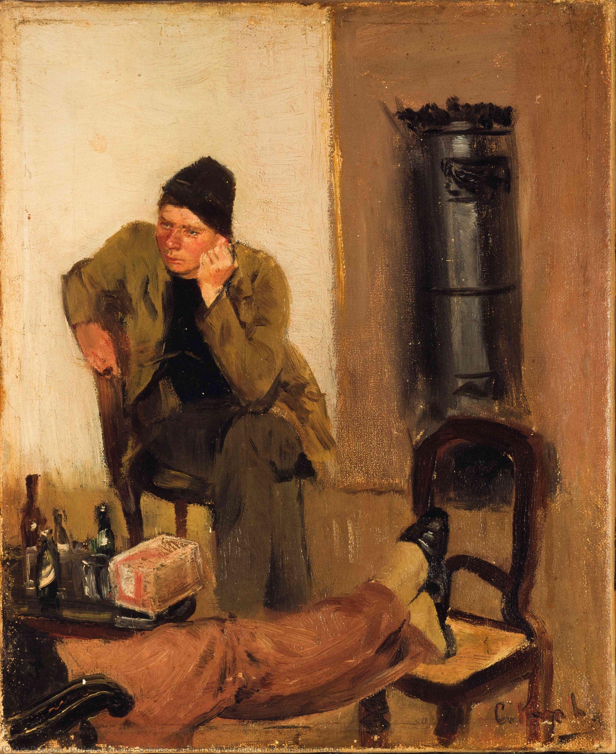Charles Lundh en conversación con Christian Krohg (1883), de Christian Krohg