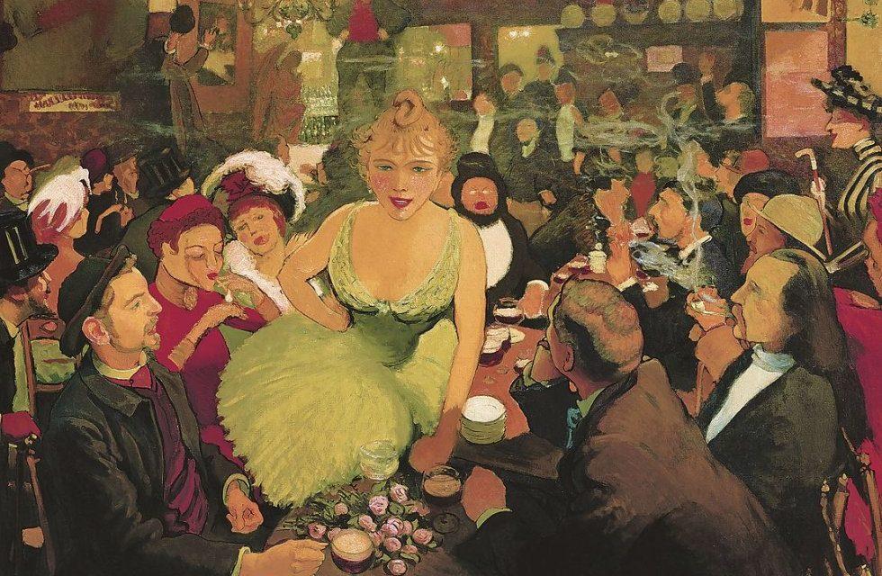 """El interior de chez Bruant"" (1887), de Louis Anquetin"