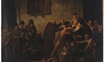 """""""El reparto de la sopa en un convento de capuchinos"""" (1866), de Serafín Martínez del Rincón y Trives"""