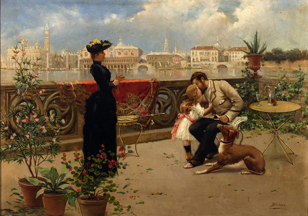 Familia veneciana (1876), de José Echenagusia