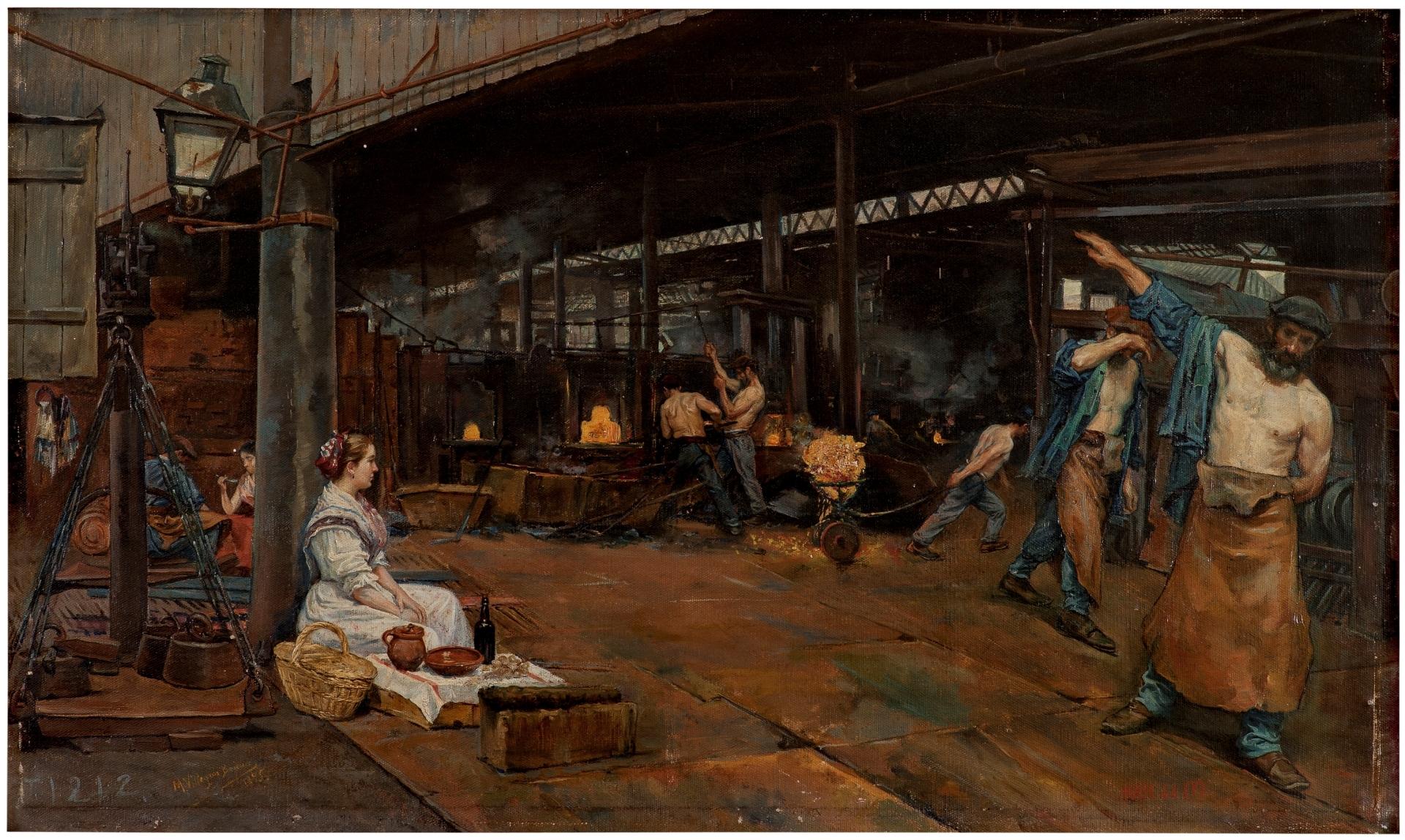 """""""Las doce en los Altos Hornos"""" (1895), de Manuel Villegas Brieva"""