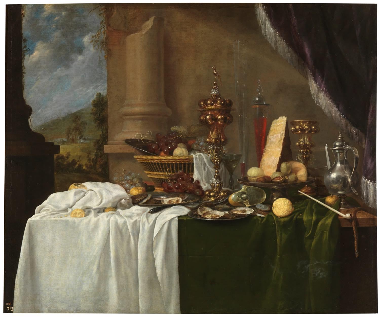 Mesa con postres (segundo tercio del siglo XVII), de Andries Benedetti