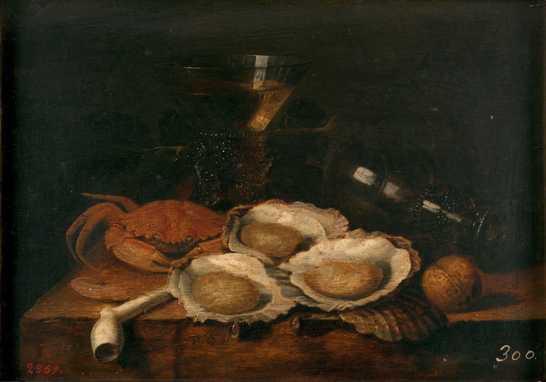 Mesa revuelta (siglo XVII), de Theodoor Smits