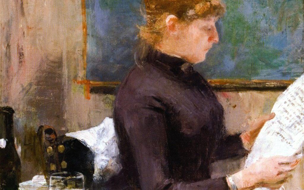 """""""Mujer leyendo"""" (1885), de Theo Van Rysselberghe"""