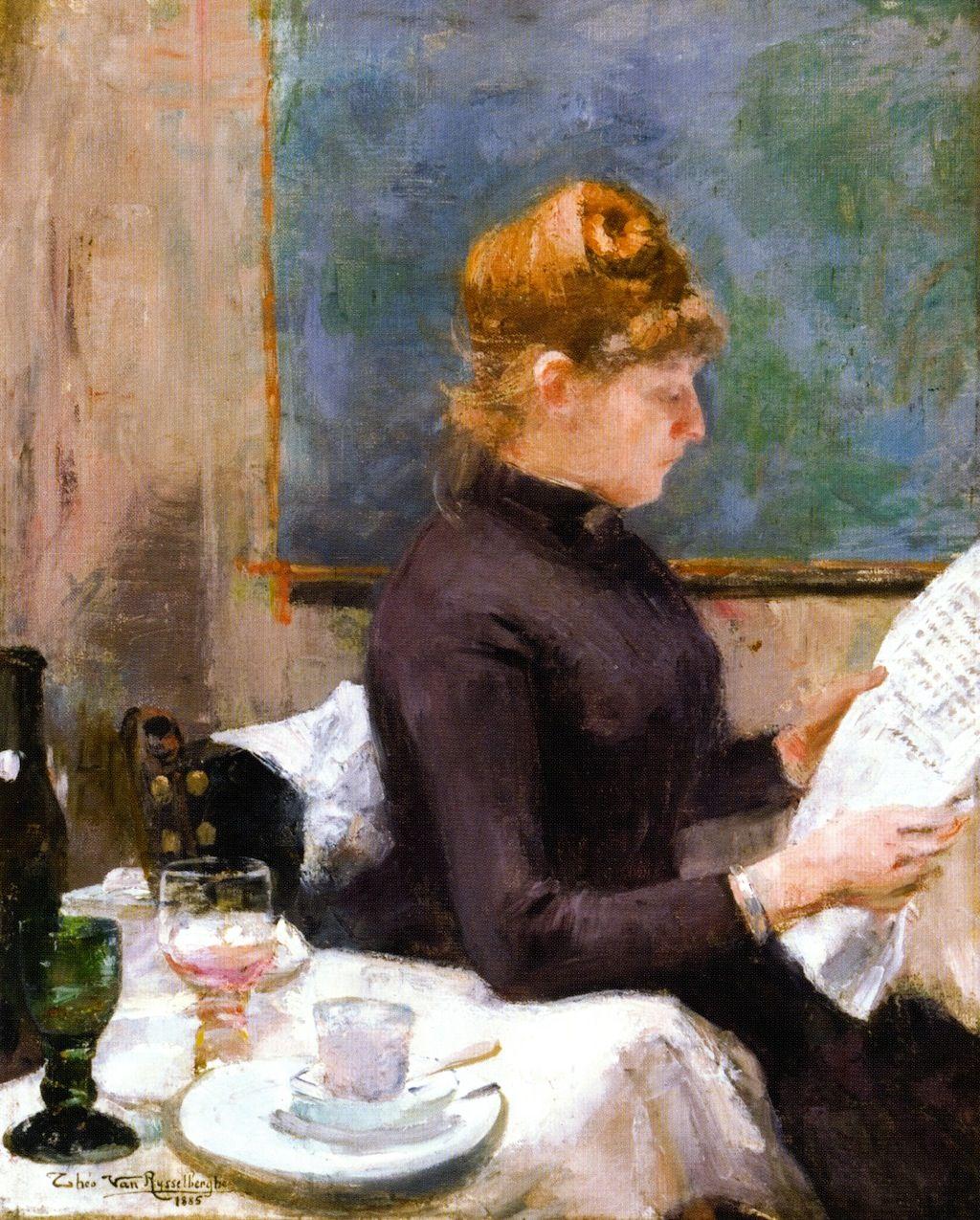 Mujer leyendo (1899), de Theo Van Rysselberghe