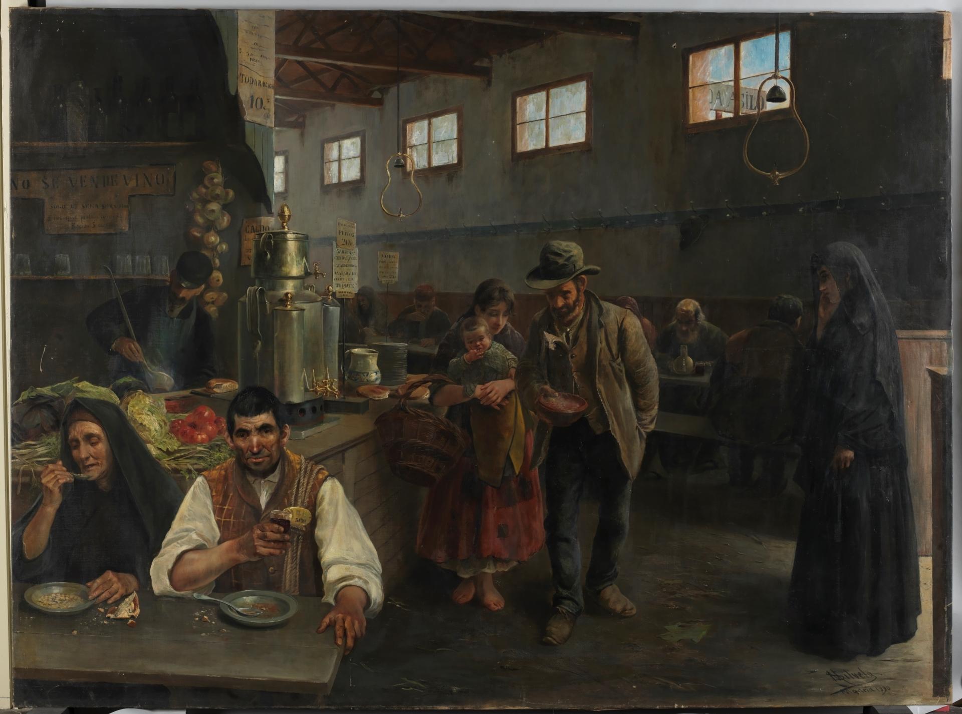 """""""Tienda-asilo"""" (1890), de Mateo Silvela Casado"""