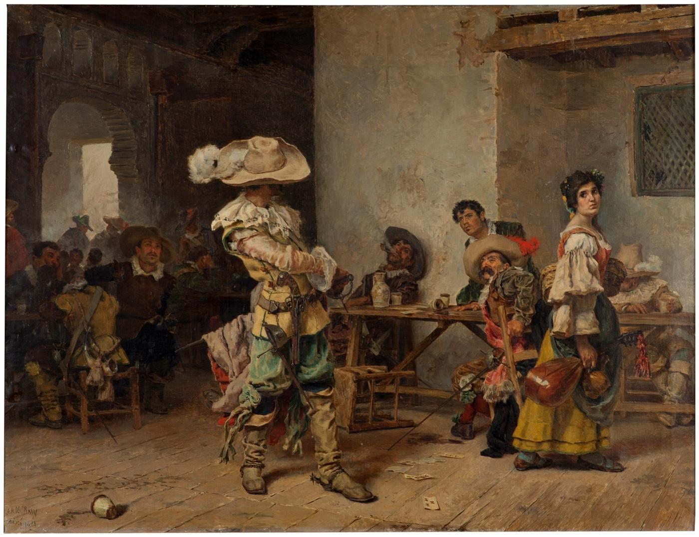 Un fanfarrón (1880), de Antonio Muñoz Degrain