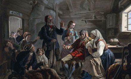 """""""El regreso de los cazadores de osos"""" (1858), de Adolph Tidemand"""