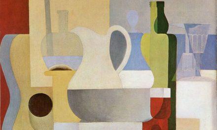 """""""Bodegón con copa de vino tinto"""" (1921), de Amédée Ozenfant"""