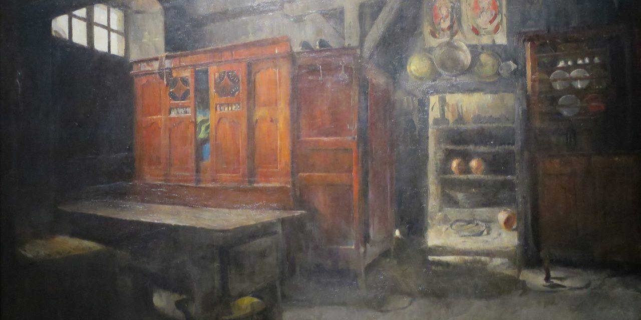 """Breton Interior"" (1882), de Harriet Backer"