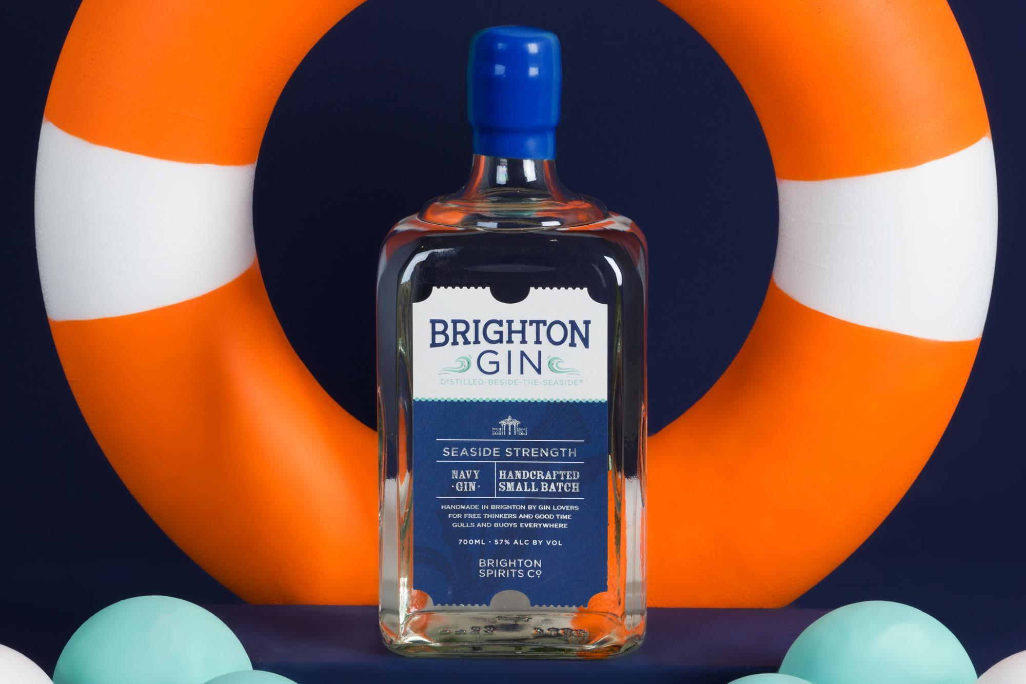 Brighton Gin Seaside Strength Navy Gin