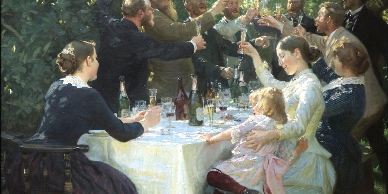 """Hip hip hurra! Fiesta de artistas en Skagen"" (1888), de Peder Severin Krøyer"
