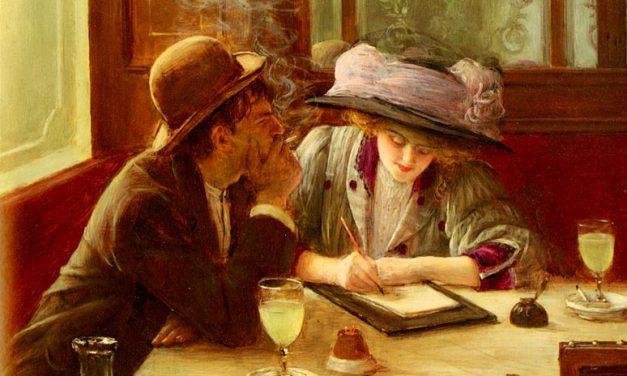 """La carta"" (1908), de Jean Béraud"