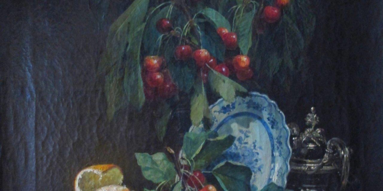 """Bodegón con granada, naranja, cereza e higos"" (1870), de Jean-Baptiste Olive"