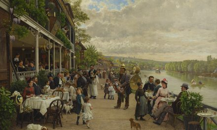 """La terraza"" (1861), de François-Marie Firmin-Girard"