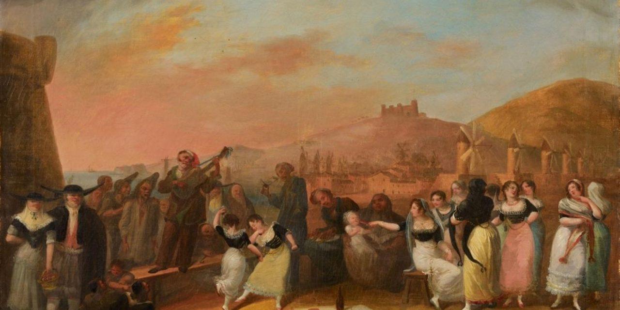 """""""Músicos y bailarines"""" (1812), de Salvador Mayol"""