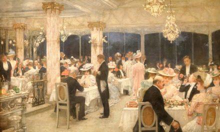 """""""Una noche de gran premio en el pabellón de Armenonville"""" (1905), de Henri Gervex"""