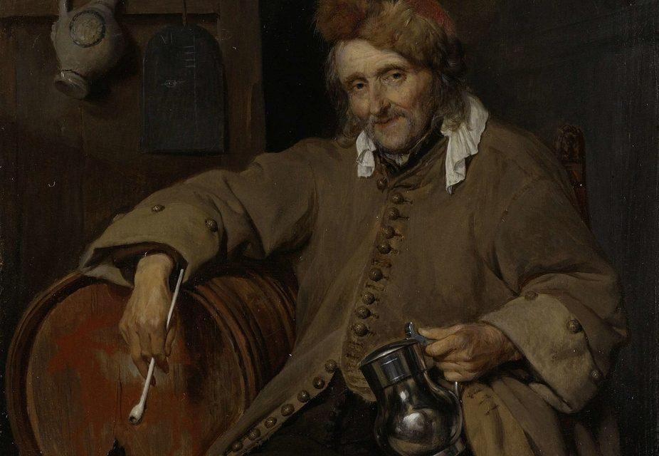 """""""El Viejo Bebedor"""" (1661), de Gabriël Metsu"""