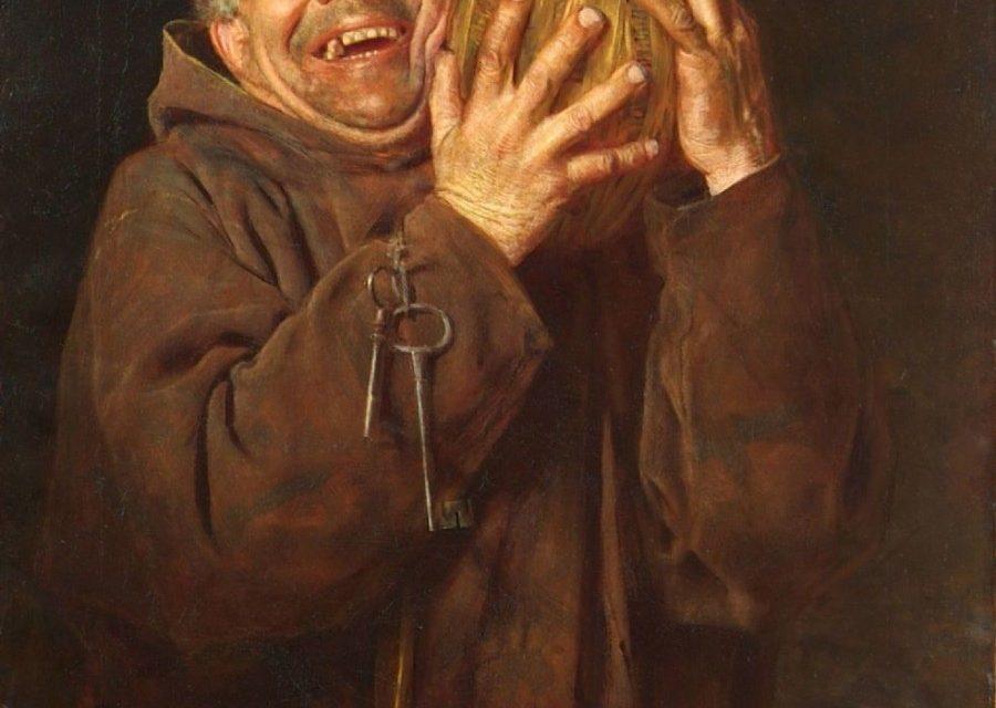"""""""Hombre con vino"""" (1880), de Gaetano Bellei"""