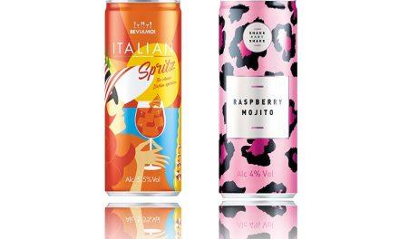 Global Brands presenta dos nuevos cócteles enlatados: Beviamo y Shake Baby Shake