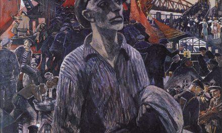 """Obrero del astillero de Hamburgo"" (1928), de Heinrich Vogeler"