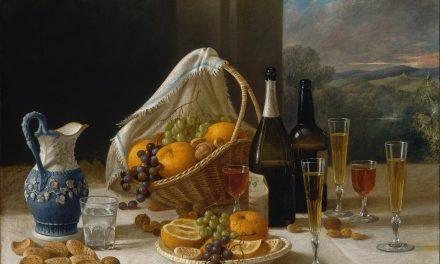 """""""Almuerzo. Naturaleza muerta"""" (1860), de John F. Francis"""