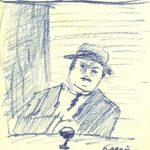 """Hombre con vaso de vino"" (1923), de Jules Pascin"