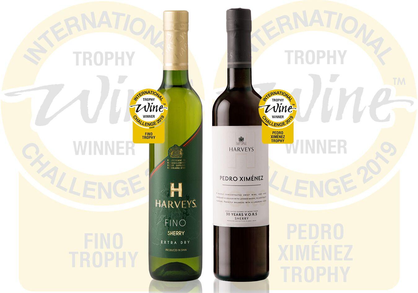 Harveys Fino Premiun y Harveys Pedro Ximénez V.O.R.S