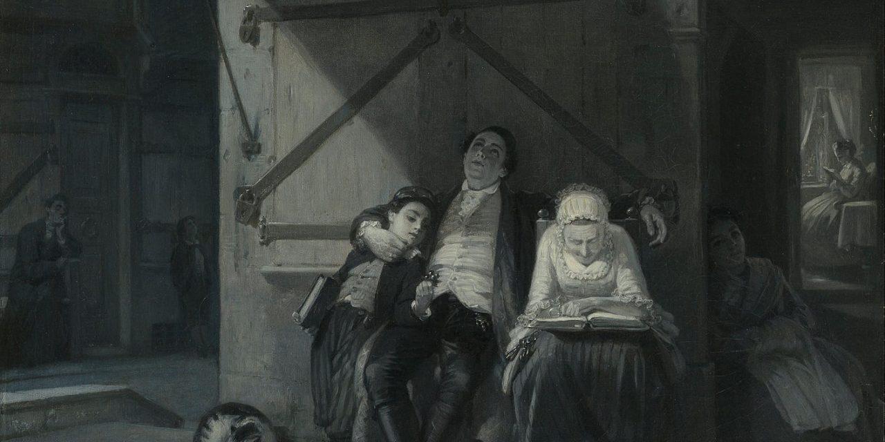 """Descanso"" (1866), de Moritz Daniel Oppenheim"