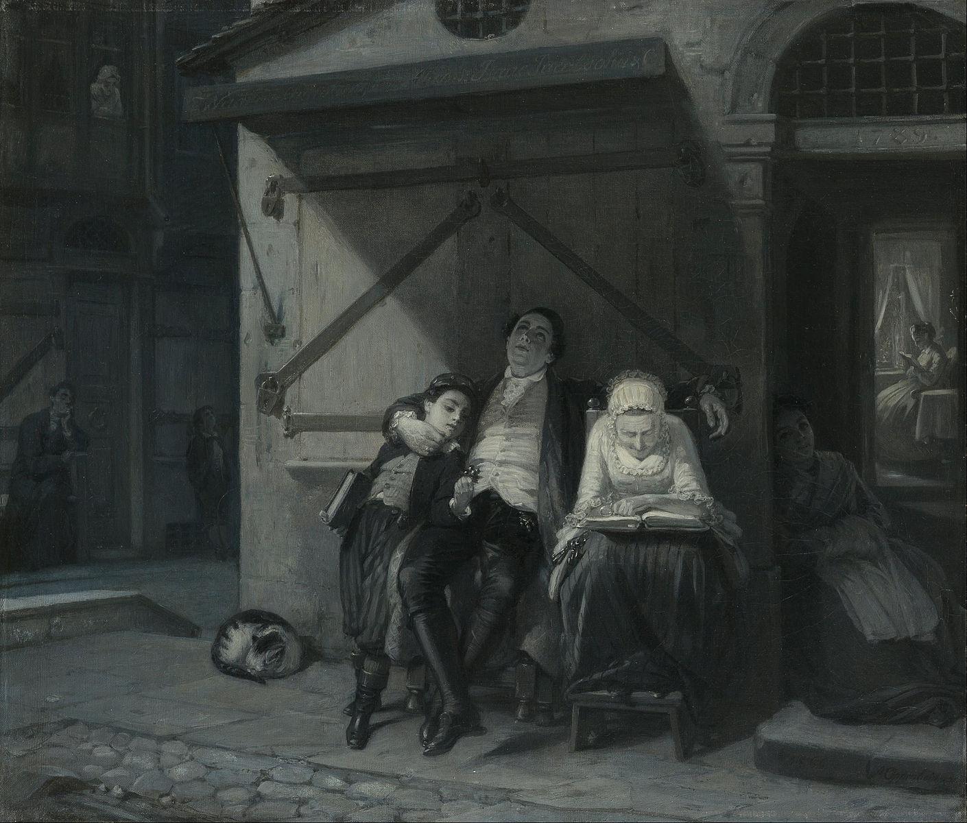 Moritz_Daniel_Oppenheim_-_Sabbath_Rest_(Sabbath-Ruhe_auf_der_Gasse)_-_Google_Art_Project