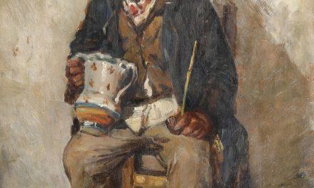 """""""Figura de viejo en la tienda"""" (1878), de Vincenzo Caprile"""