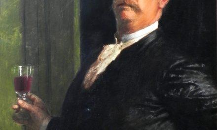 """""""Autorretrato con copa de vino"""" (1885), de Arnold Böcklin"""