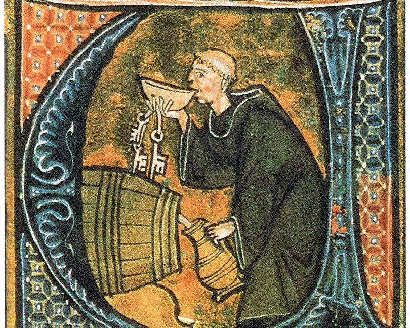 """""""Monje probando vino"""" (siglo XIII), de Aldobrandino de Siena"""
