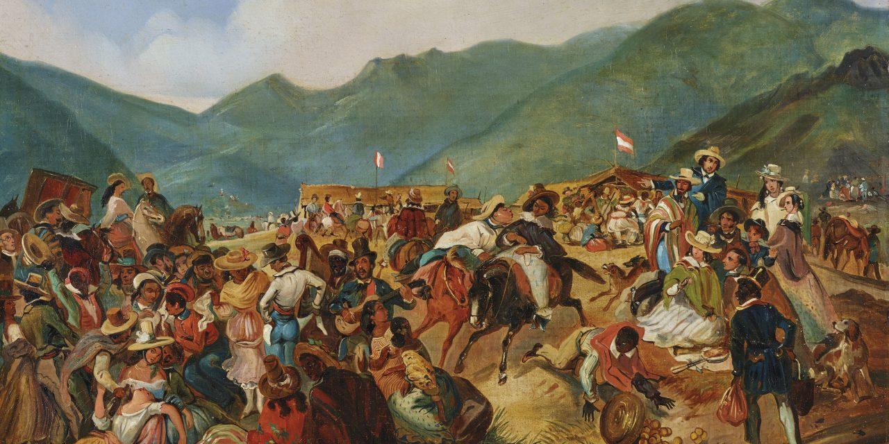 """""""Fiesta de San Juan en Amancaes"""" (1843), de Mauricio Rugendas"""