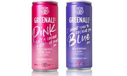 Greenall's actualiza las latas de gin tonic RTD para Blueberry y Wild Berry