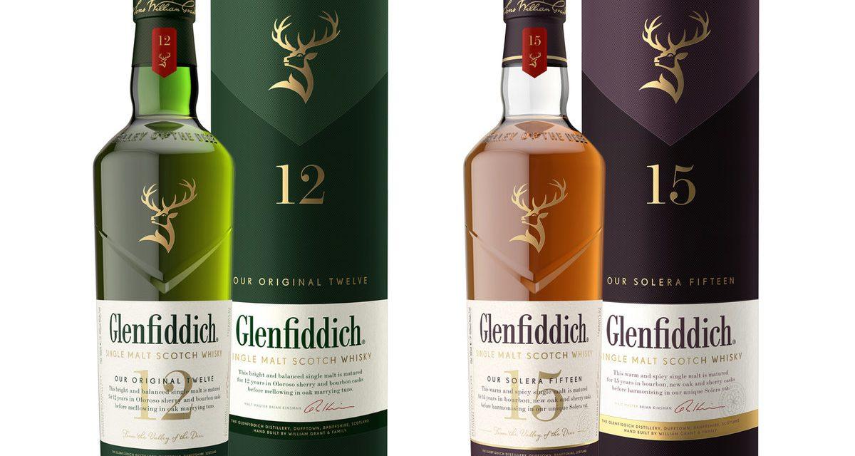 Glenfiddich actualiza el diseño de sus envases, por HERE design