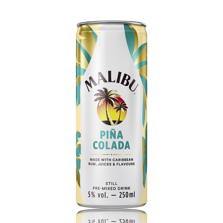 Malibu Pina Colada ROW 250ml Can Transparent Background