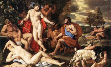 """""""Midas ante Baco"""" (hacia 1630), de Nicolas Poussin"""